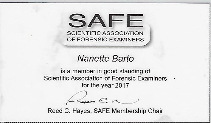 SAFE Scientific Association of Forensic Eaminers